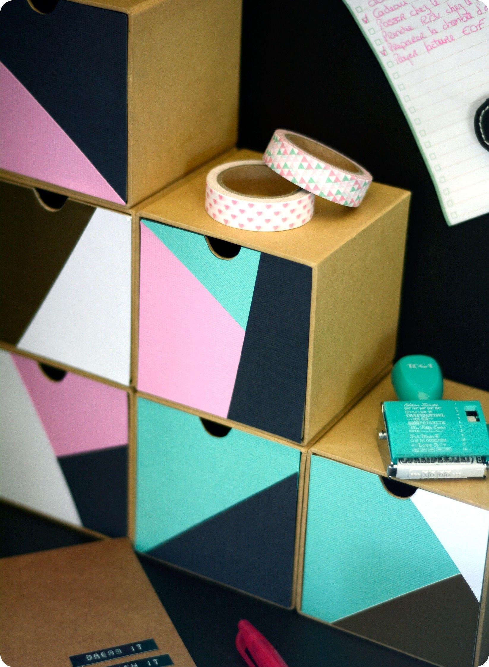 mes p'tits cubes de rangement géométriques   chambre marine