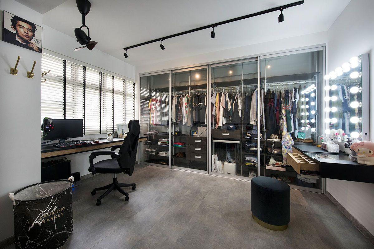 10 Open Concept Walk In Wardrobe Ideas For Your Hdb Walk In Wardrobe Master Bedroom Makeover Minimalist Interior Design