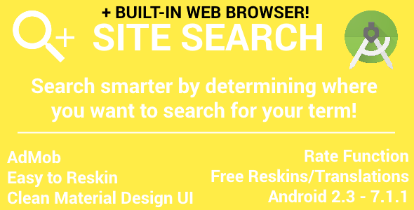 Site Search - with AdMob (Banner & Interstitial) - with Web