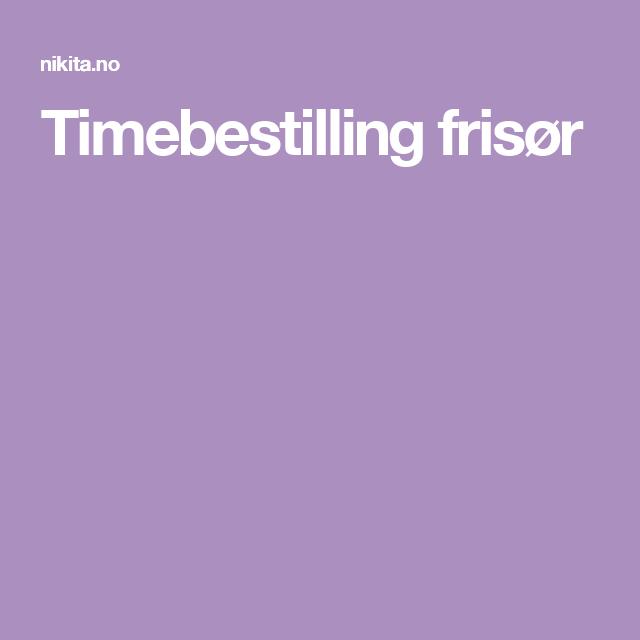 Timebestilling frisør