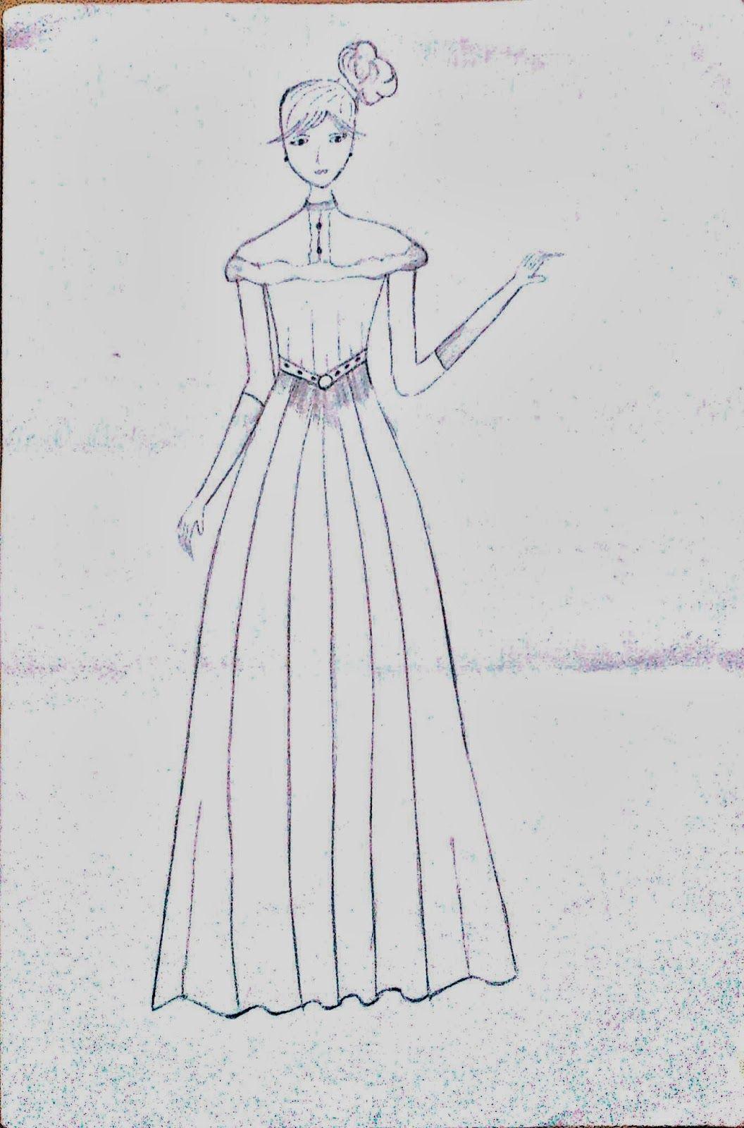 Sketsa Desain Baju Wanita