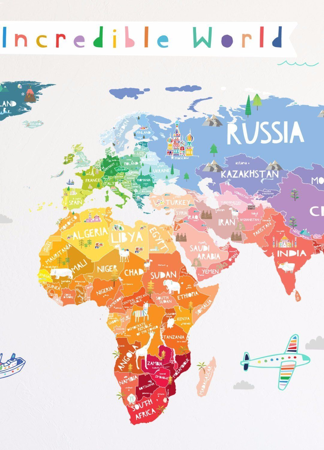 Our incredible world decal map design map design our incredible world decal gumiabroncs Images