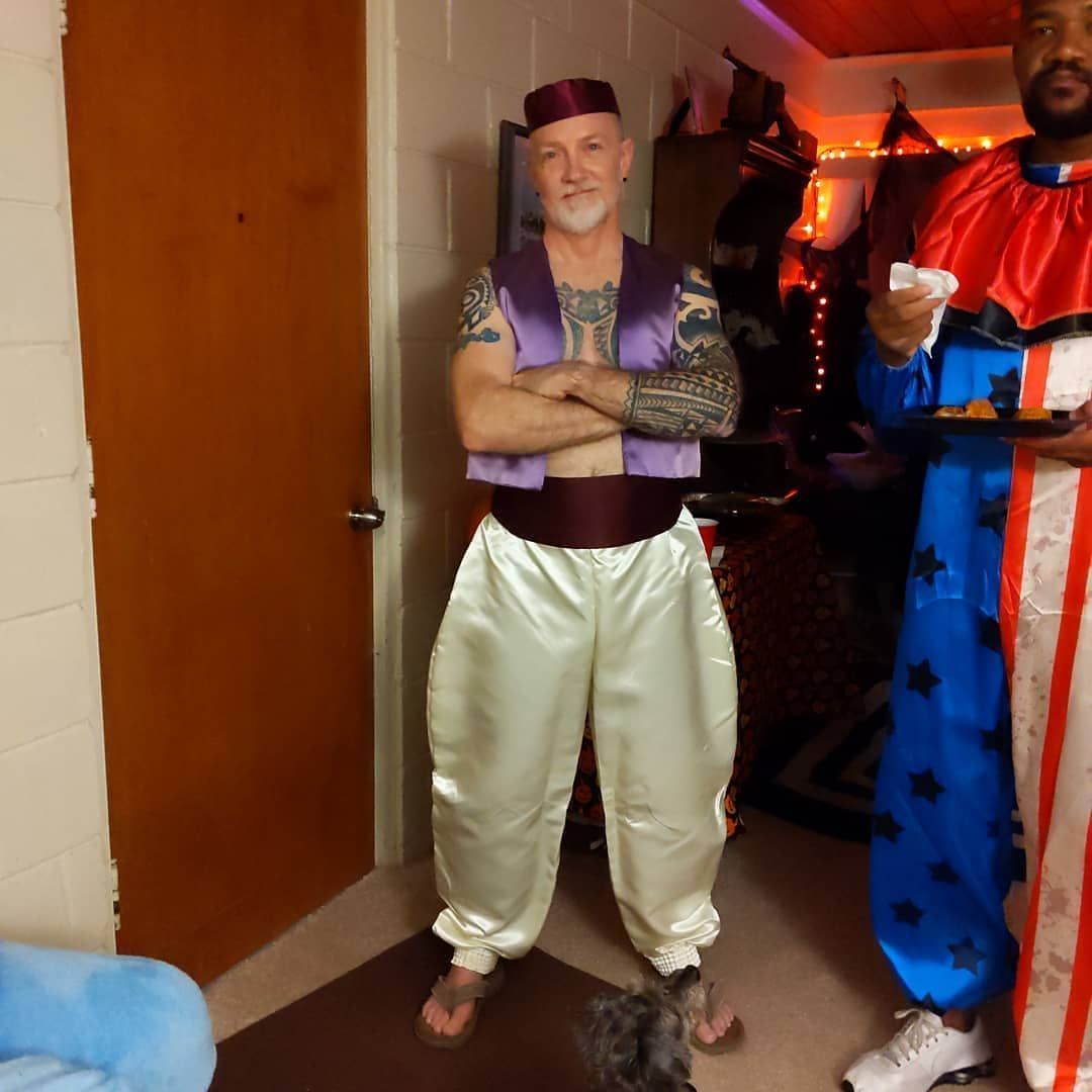Reposted from my personal feed (@guyivie) just to prove I'm not quite so serious as some of you think I am... Yes, it's true: I am Aladdin's grandfather. + + + #halloween #halloweenparty #costume #halloweencostumes #costumeideas #aladdin #ink #tattoo #beard #maturegaymen #grandfathertattoo Reposted from my personal feed (@guyivie) just to prove I'm not quite so serious as some of you think I am... Yes, it's true: I am Aladdin's grandfather. + + + #halloween #halloweenparty #costume #halloweencos #grandfathertattoo