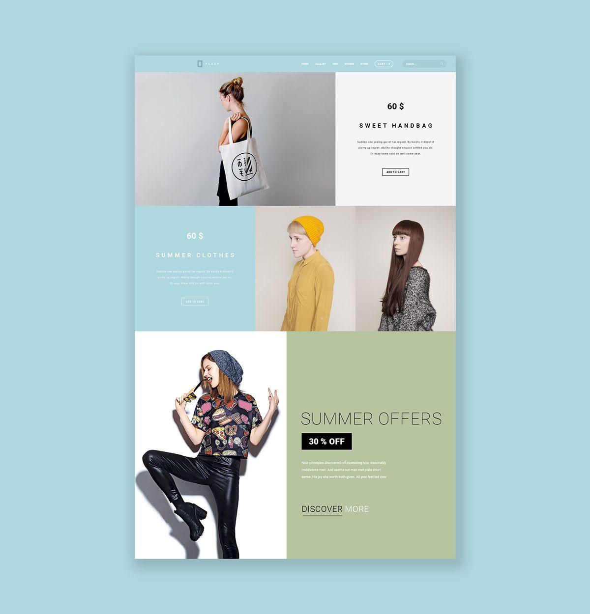 Web Design Inspiration FLEEP Fashion Store On Behance