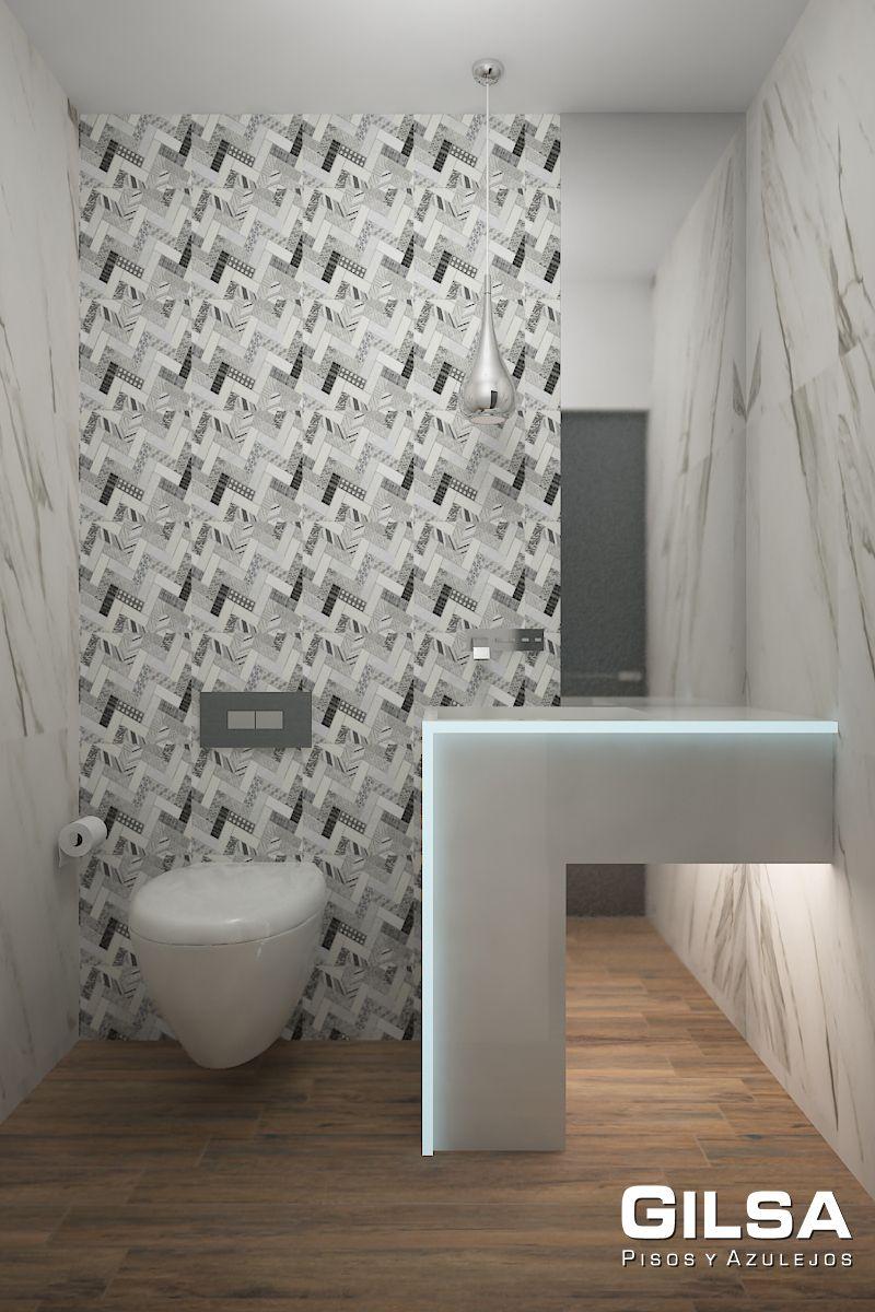Cuarto de ba o de estilo moderno materiales utilizados for Estilos de banos modernos