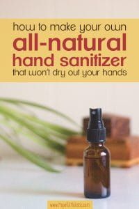 Easy Diy Hand Sanitizer Recipe Natural Pins From Natural