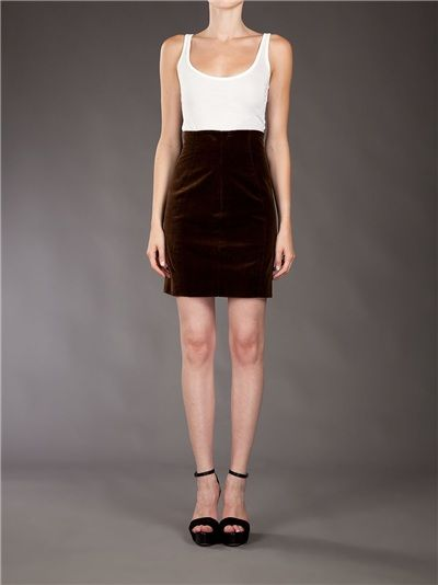 CHANEL VINTAGE - Velvet skirt from A.N.G.E.L.O. VINTAGE PALACE