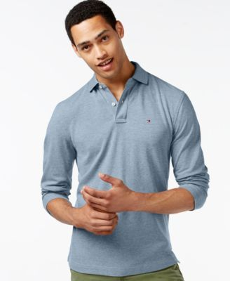 TOMMY HILFIGER Tommy Hilfiger Men's Long-Sleeve Classic-Fit Polo . #tommyhilfiger #cloth # polos