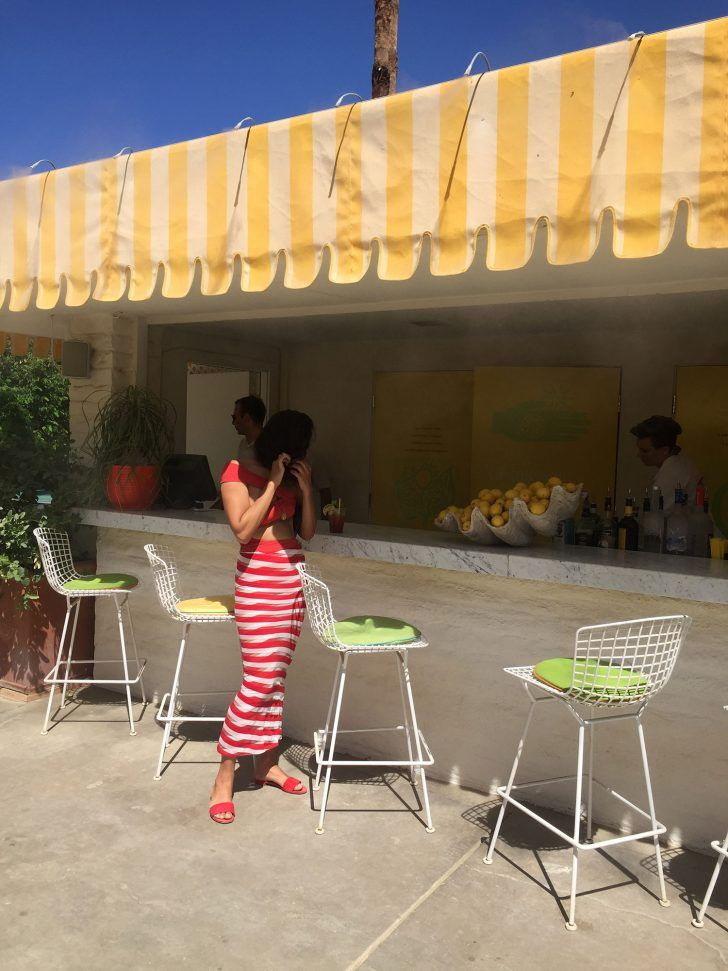 How To Do Palm Springs Like Shiona Turini And Melina Matsoukas Seeing Stripes Palm Springs Palm Travel Guide