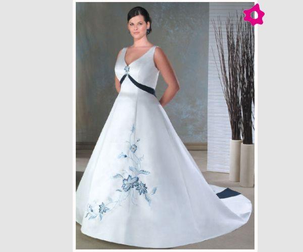 Suknia ślubna z niebieskimi dodatkami   30.04.2016   Pinterest   Bodas