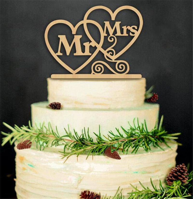 Hot Sale Mr Mrs Wedding Cake Topper Happy Birthday Cake Toppers