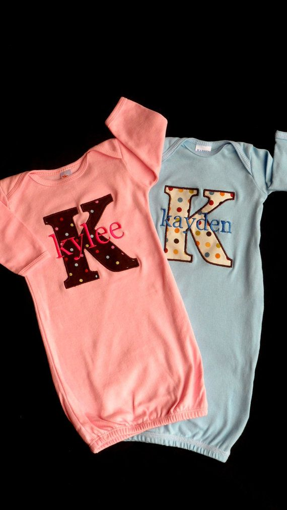 Maybe take home outfits????? Twins Monogram Take Me Home Outfit ...