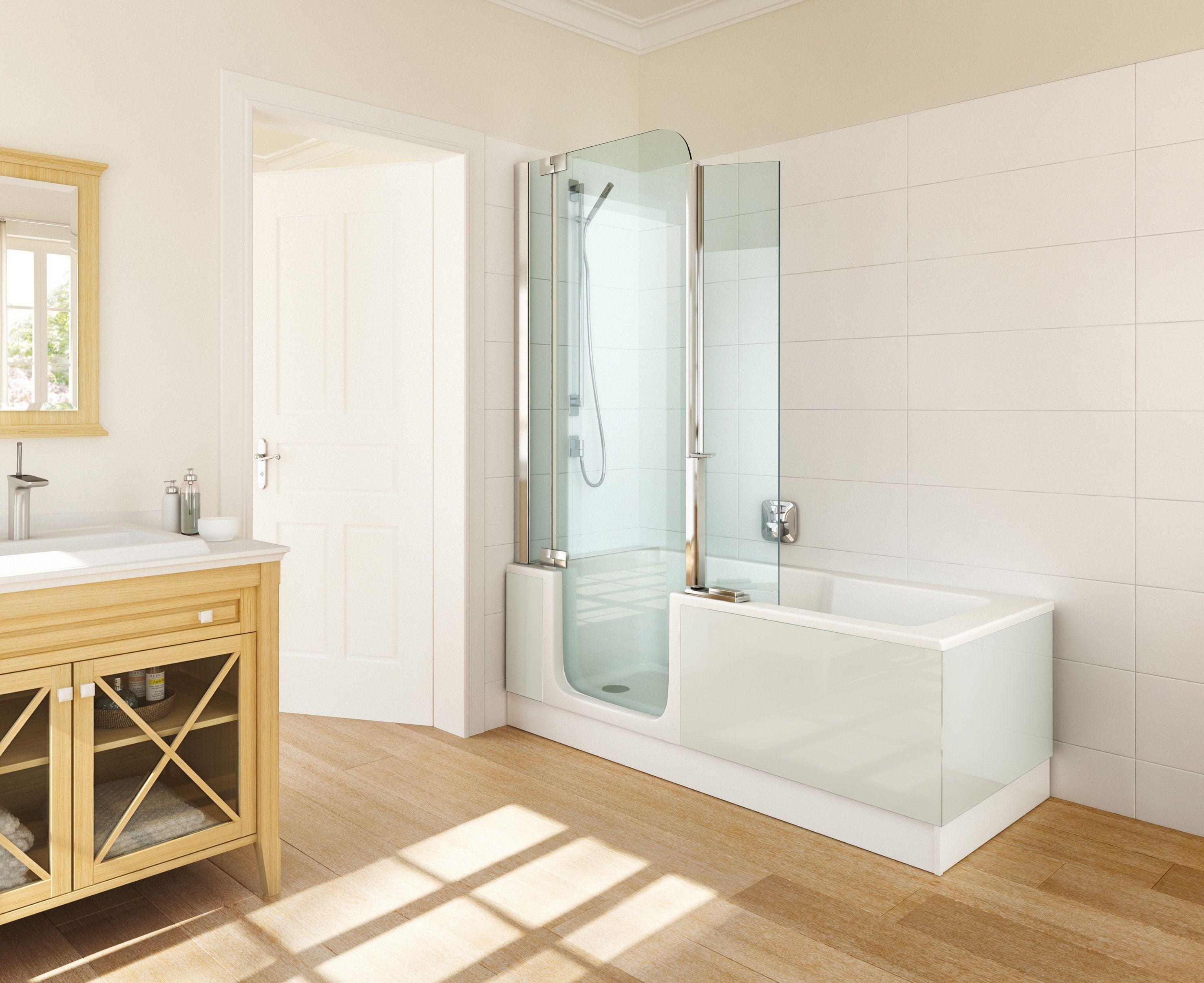 Twinline douchebad kleur wit wit in de badkamer
