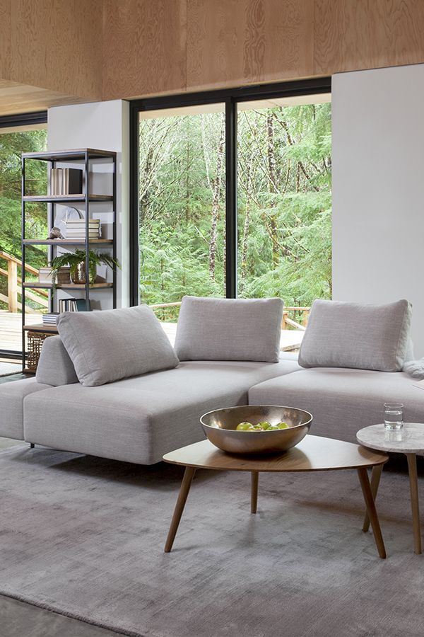 Light Gray Sectional, Metal Legs, Moveable Backrest | Article Divan Modern  Furniture. Living Room DecorationsLiving Room IdeasCool ...