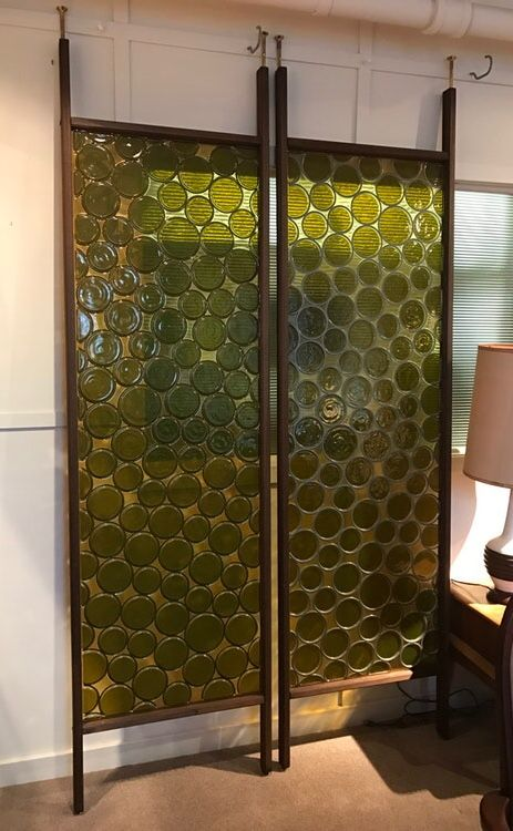Mid-century Room Divider Lucite Panels