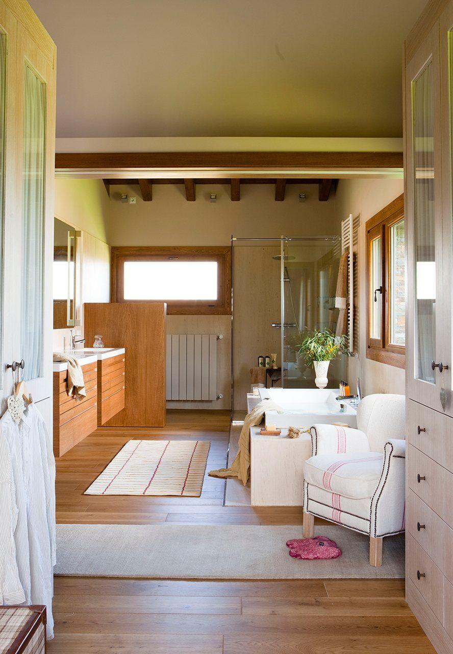 Un Bano Abierto Al Dormitorio Y Al Vestidor Dormitorios Bano