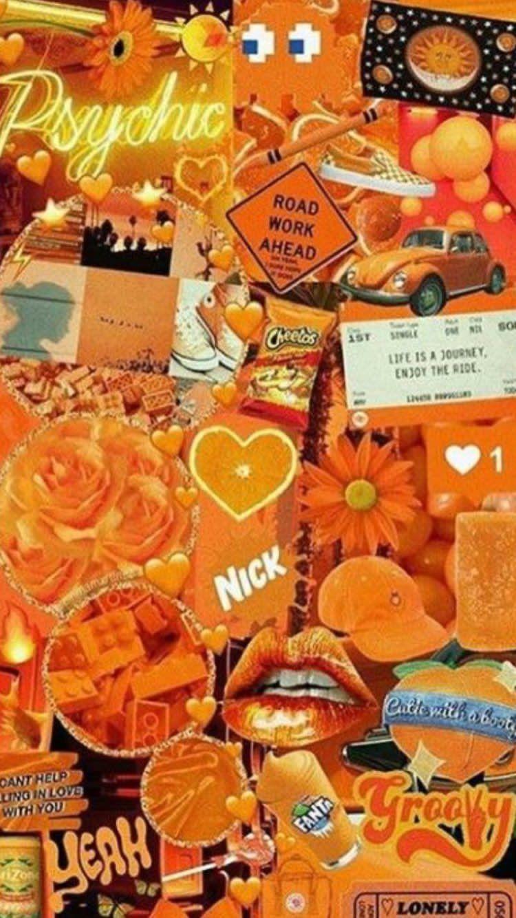 Pin By Hanna Er On Fond D Ecran Iphone Wallpaper Vintage Aesthetic Iphone Wallpaper Orange Wallpaper