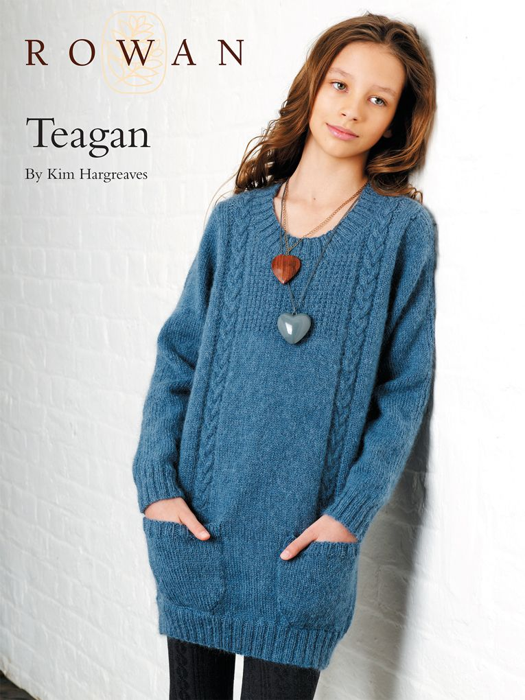 Rowan free pattern for girls long line jumper. Although this is Aran ...
