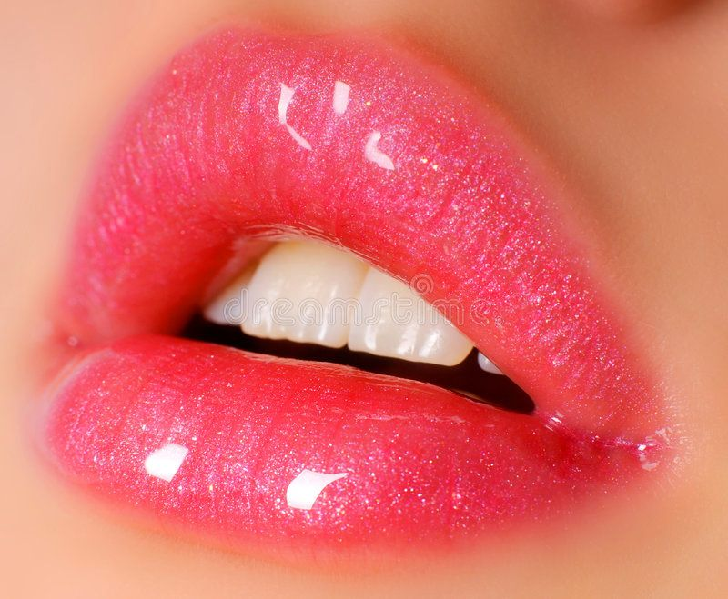 Pink Lips Glowing Pink Lips Open For Kiss Close Up Ad