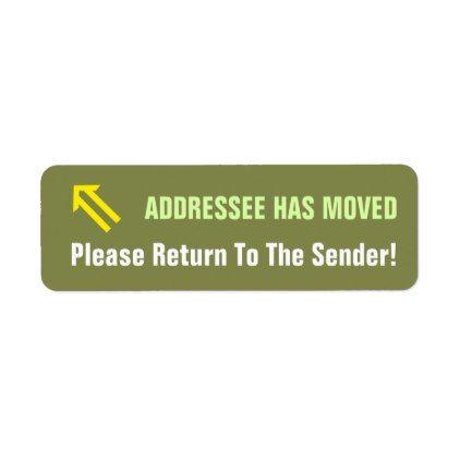 Please Return To The Sender! - sample address label