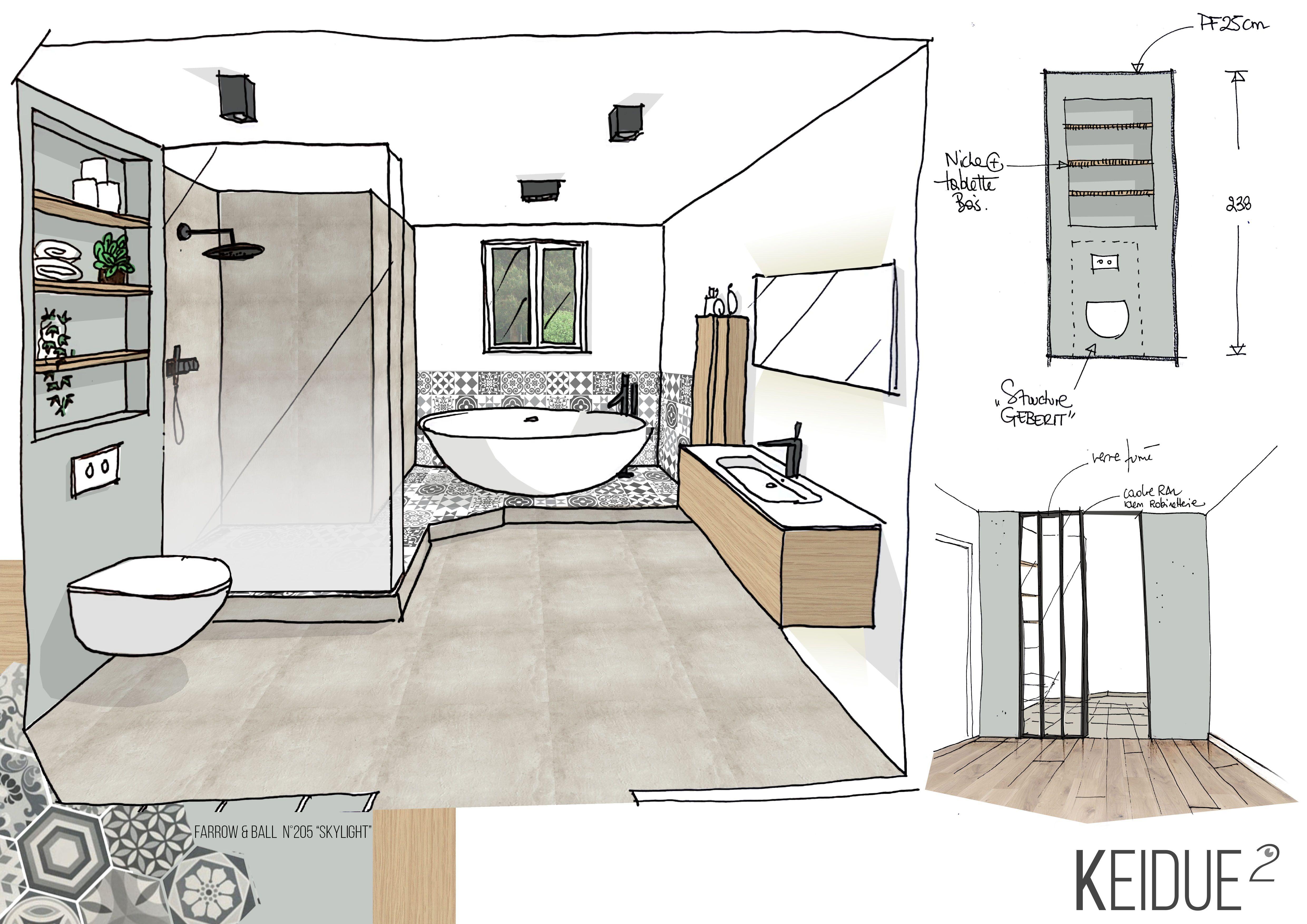 Dessin Salle De Bain croquis salle de bains agence keidue² www.keidueagence