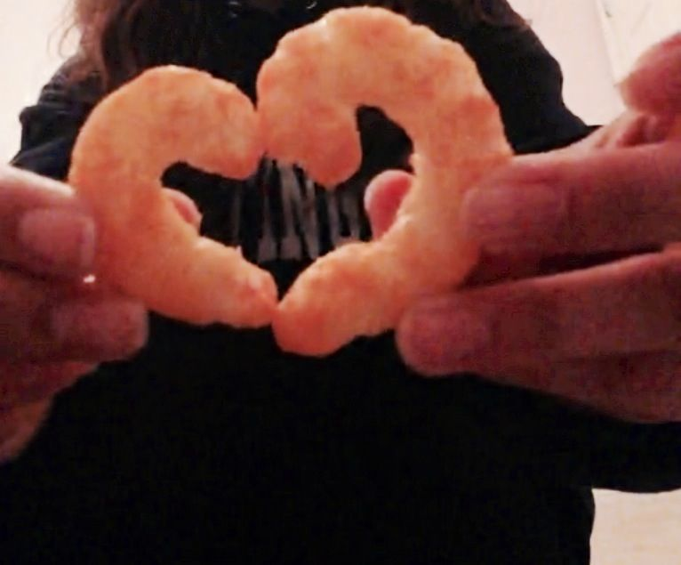 Curly cheese doodles    Artsy huh?