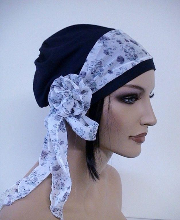 Mütze Beanie Nacht Blau **CHEMO** anst.Perücke | Caps | Pinterest ...