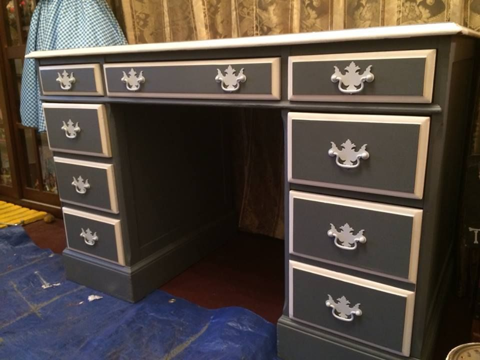 Vanity or Desk? You decide! This is a piece I just finished up on 10/14/2014 - Michelle  https://www.facebook.com/BigYellowHouseFurniture/photos/a.1545347629016616.1073741827.1545346032350109/1545770725640973/?type=1&theater