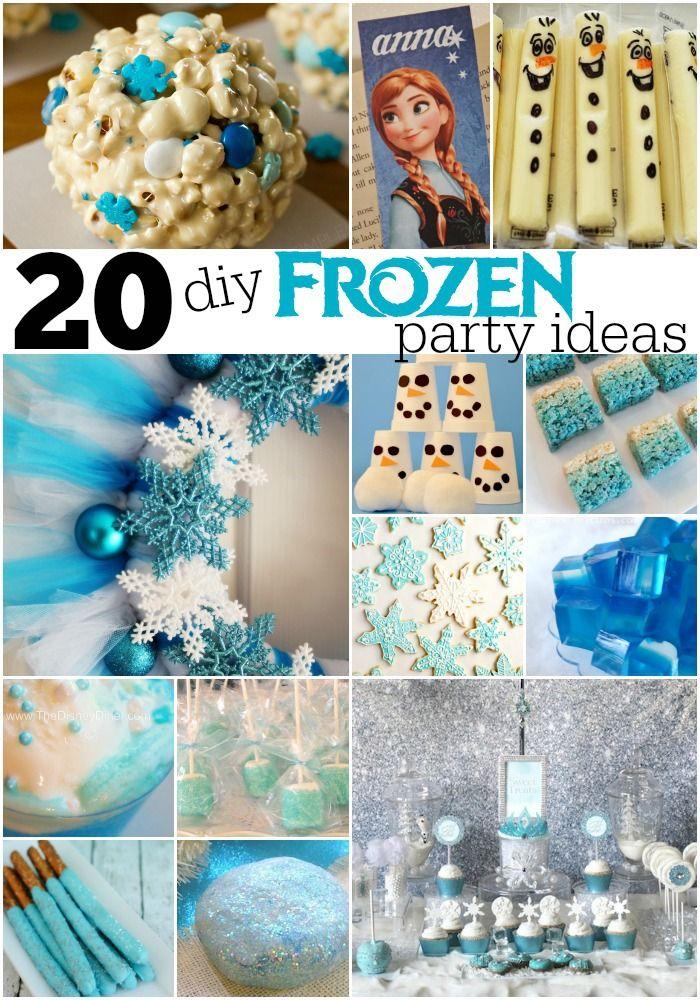 20 + DIY Frozen Party Ideas