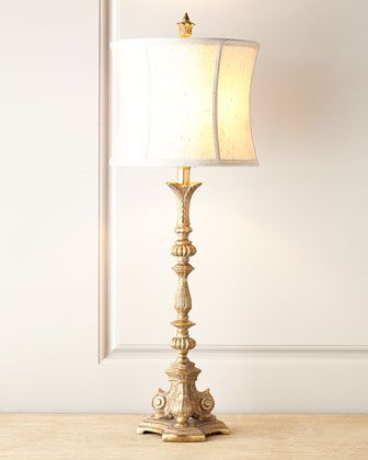 Silver etienne table lamp at horchow handcrafted of resin silver leaf finish