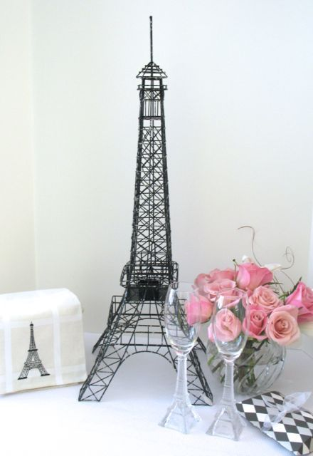 Eiffel Tower Large 28 Inch Black And Silver Wire Metal Centerpiece Replica Tabletop Eiffel Tower Centerpiece Tower Centerpiece Eiffel Tower