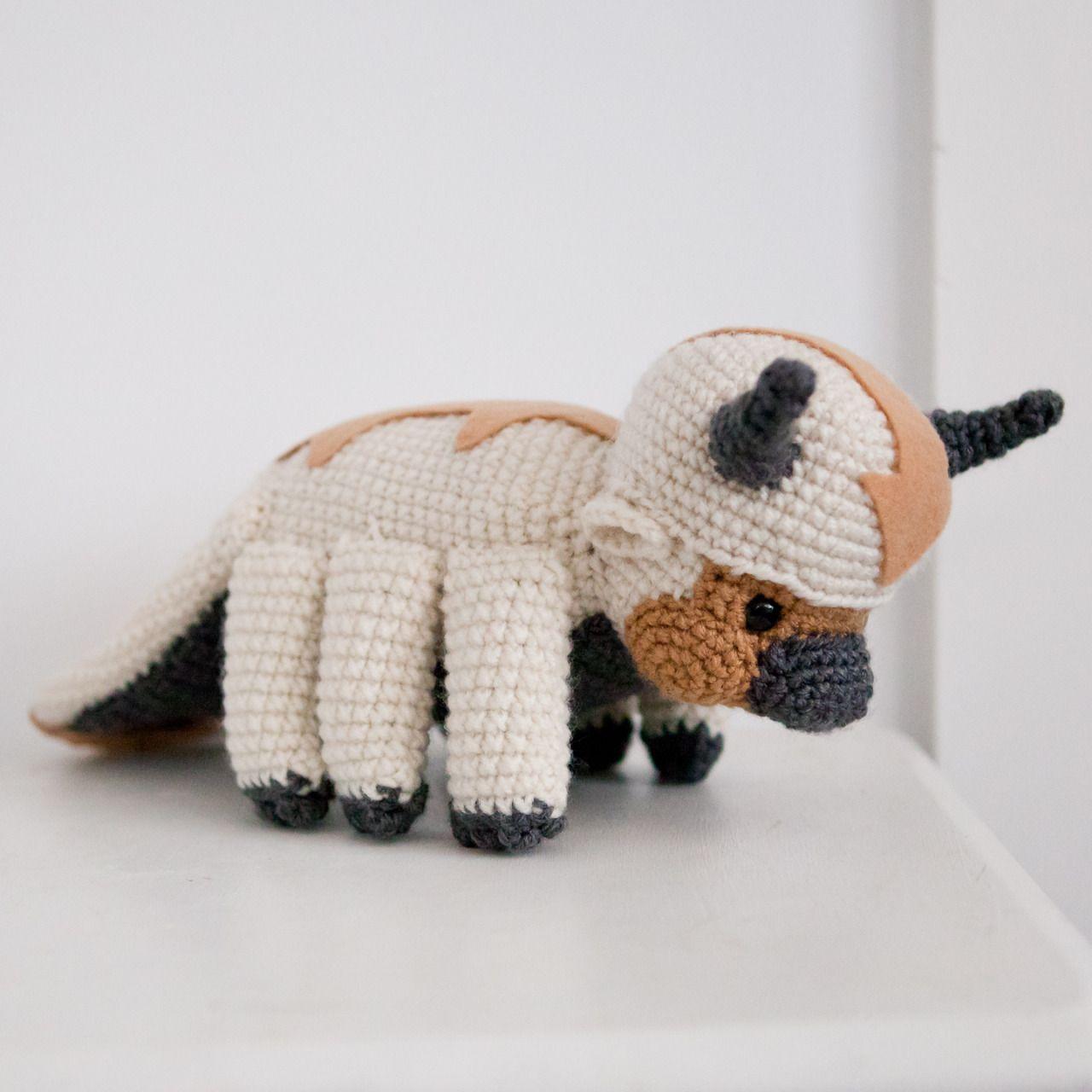 Amigurumi Crochet Appa, from Avatar the Last Airbender ...