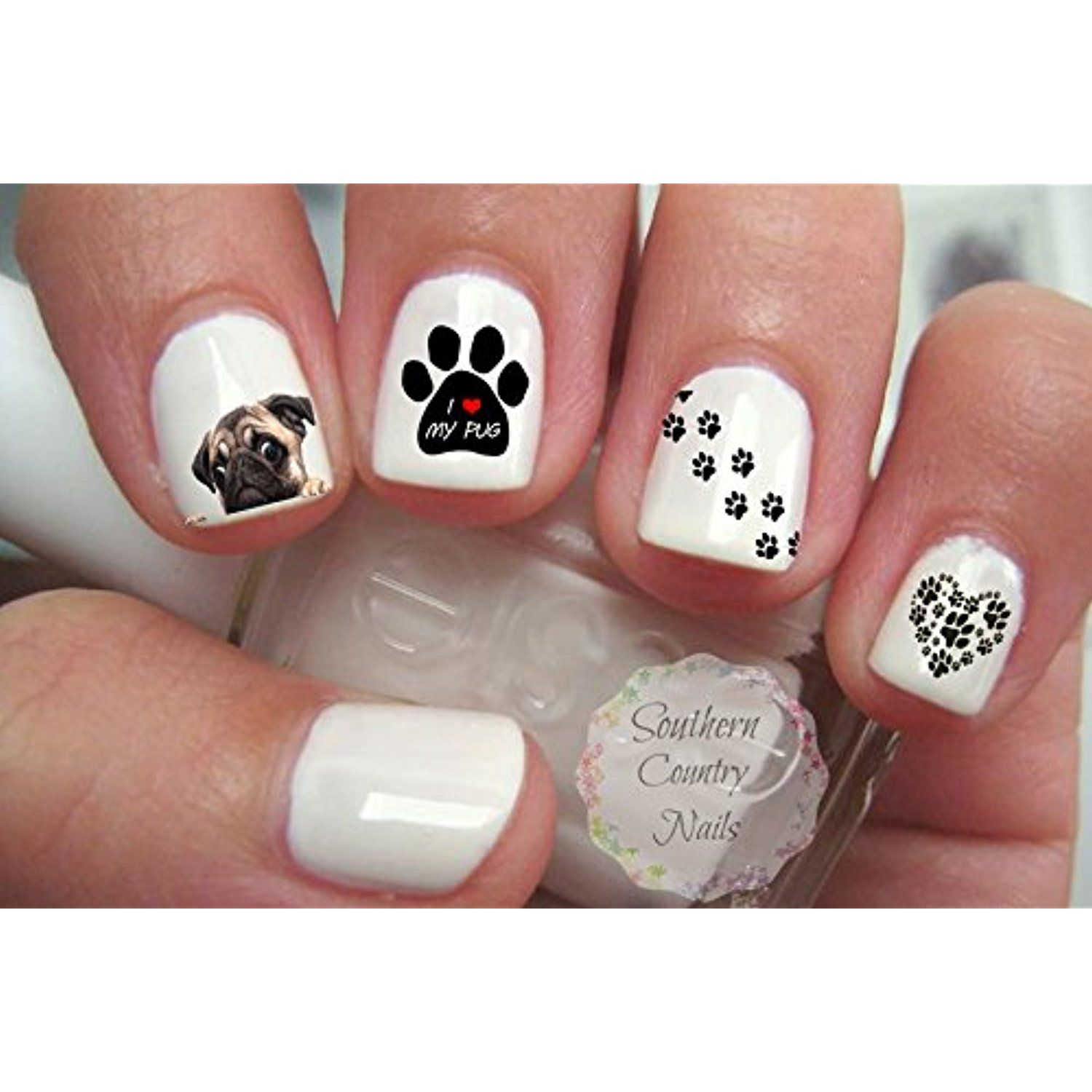 Pug Nail Art Decals -- Want to know more, click on the image. (This ...