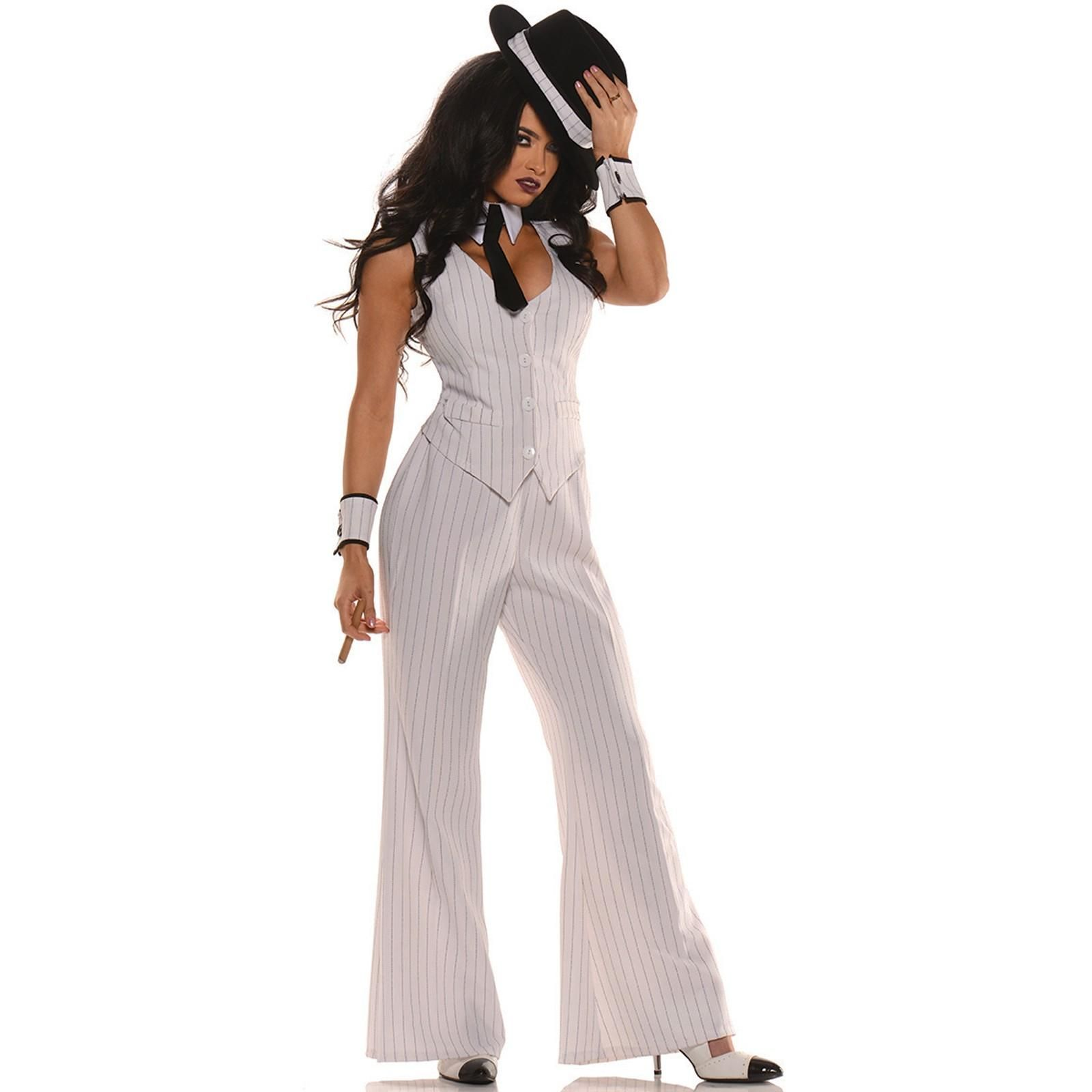 send the halloween party an offer it cant refuse with this womens mob boss gangster costume - Halloween Mobster Costumes