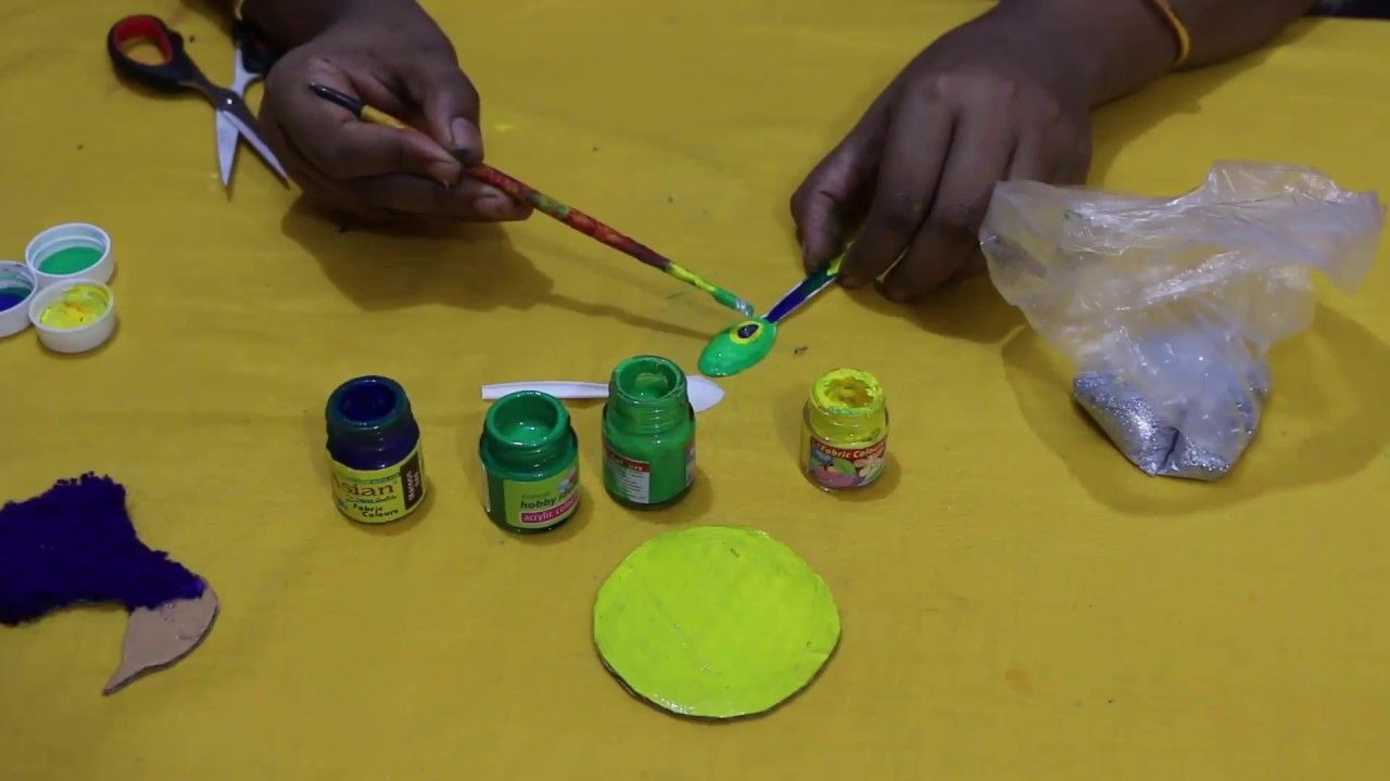 DIY Plastic Spoon Project | How to make peacock with plastic ...