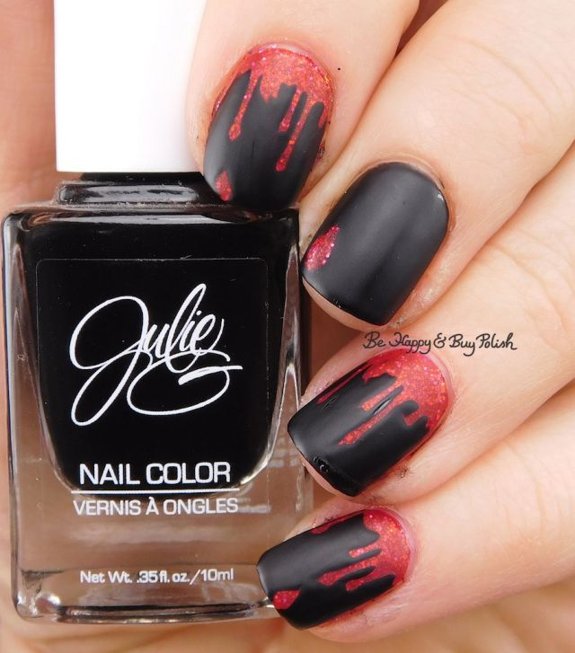 Halloween Nail Art Manicures Nails Pinterest Drip Nails And