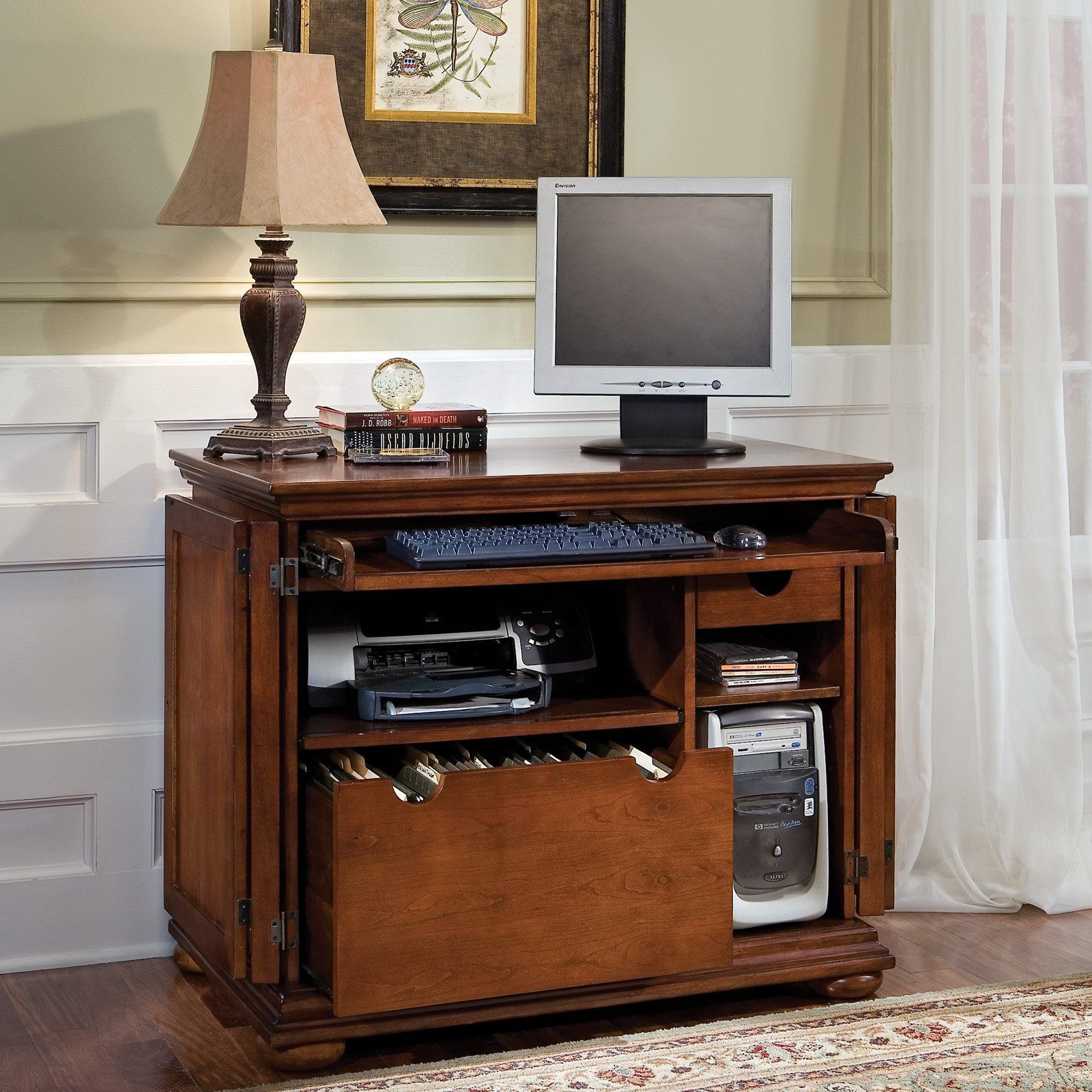 Have to have it. Home Styles Homestead Compact Computer Armoire ...