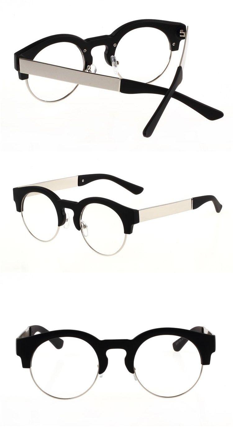 Retro Round Hand made Glasses Frame Eyebrow Frames Custom Made ...