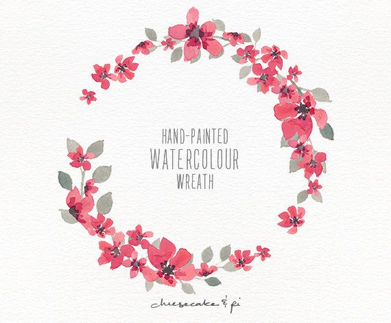 Watercolor Wreath 1 PNG Floral Clip Art By CheesecakeandPi