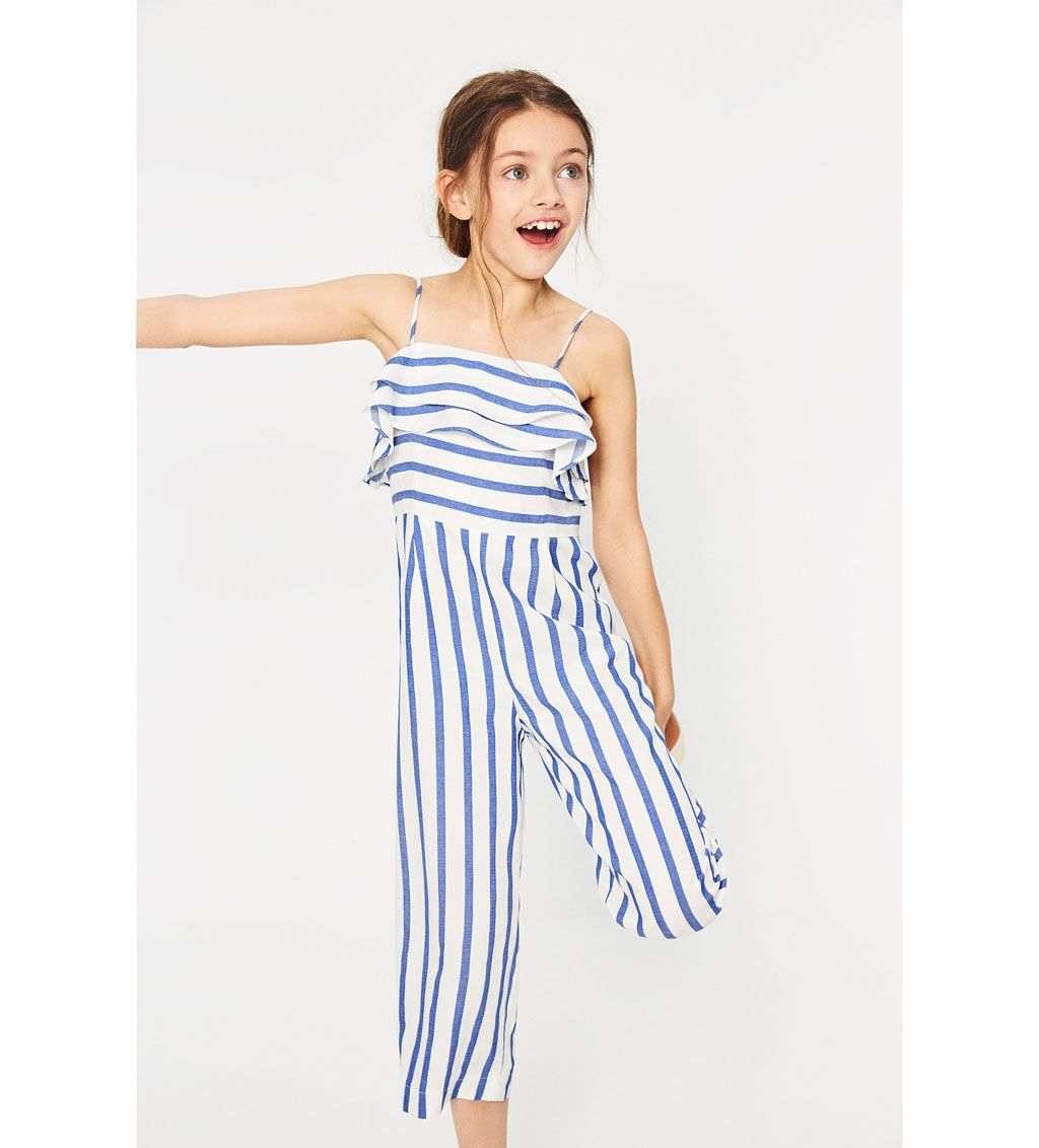 Image 1 Of STRIPED JUMPSUIT WITH RUFFLES From Zara | Childrenu0026#39;s Wear | Pinterest | Striped ...
