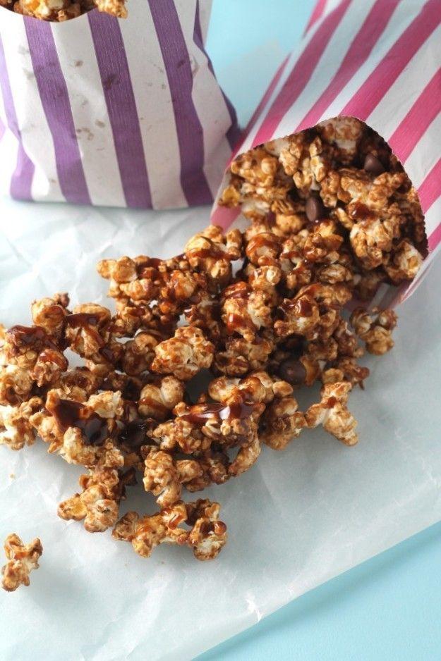 Chocolate and Salted Caramel Popcorn