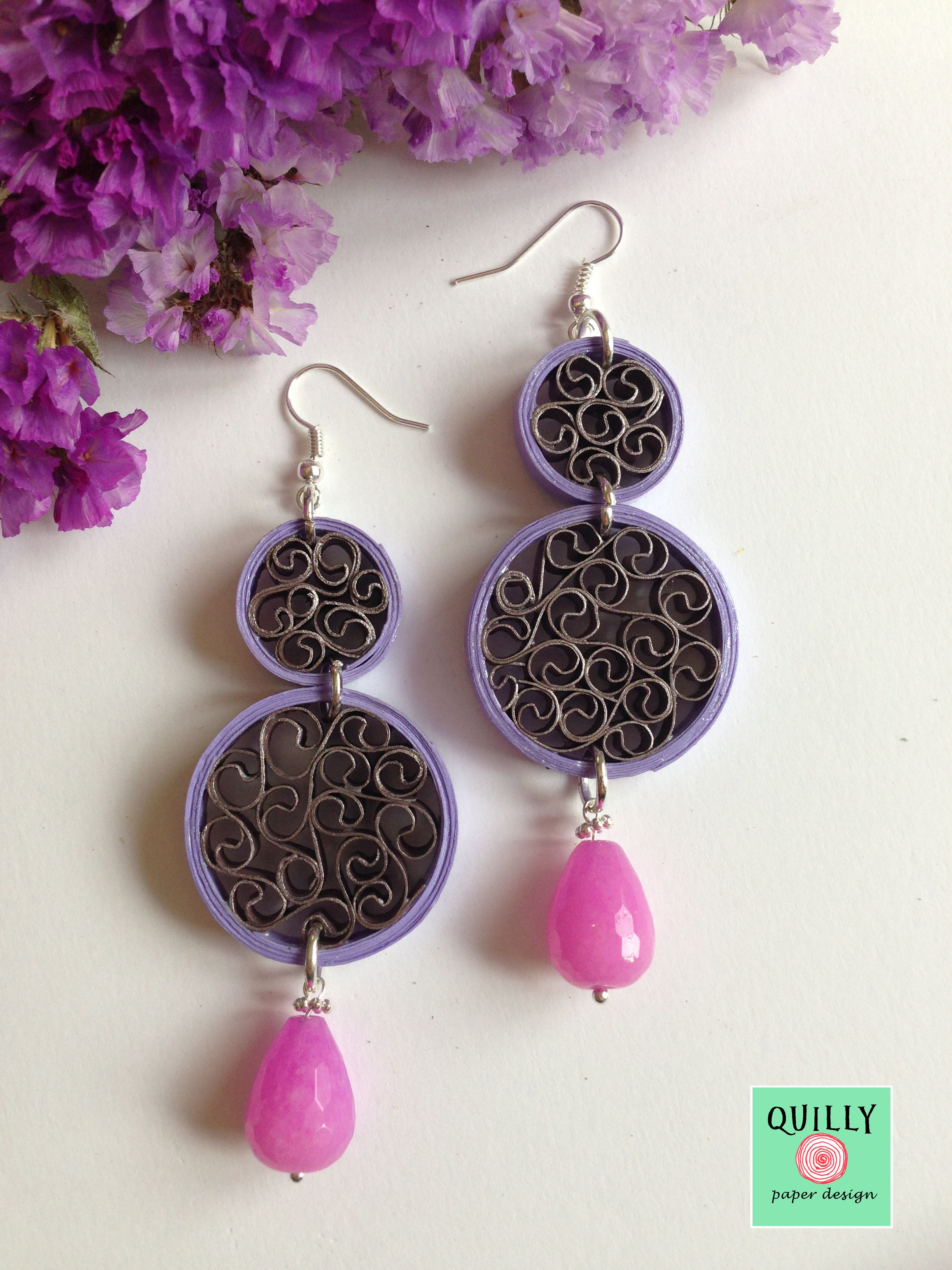 "Earrings ""Arabesco_05"" a paper jewel by QuillyPaperDesign"