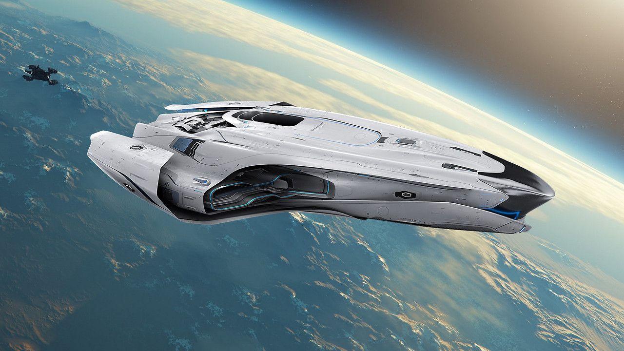 Glacier1701 Star Citizen Into Orbit Art Spaceship Star