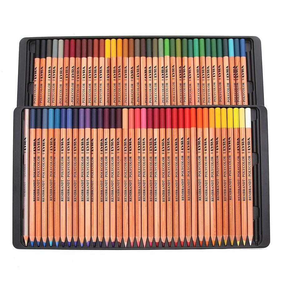Details About Coloured Pencils Polycolor Rembrandt Lyra 72 Colours