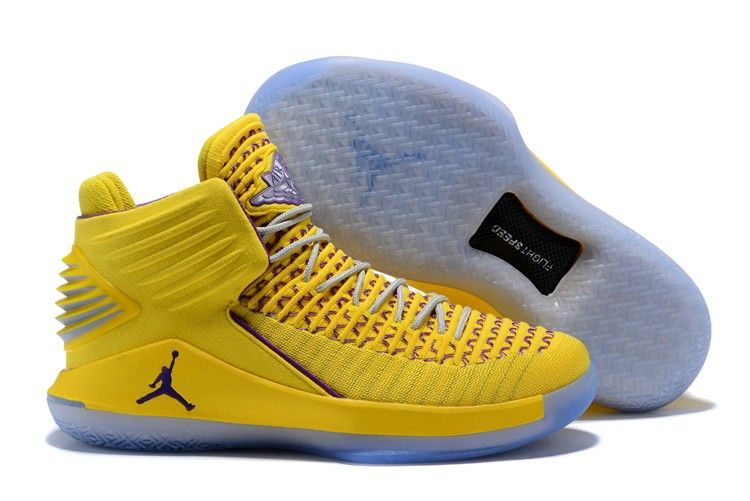 2018 Cheap Air Jordan 32 Yellow Purple Shoes For Sale aea896eed