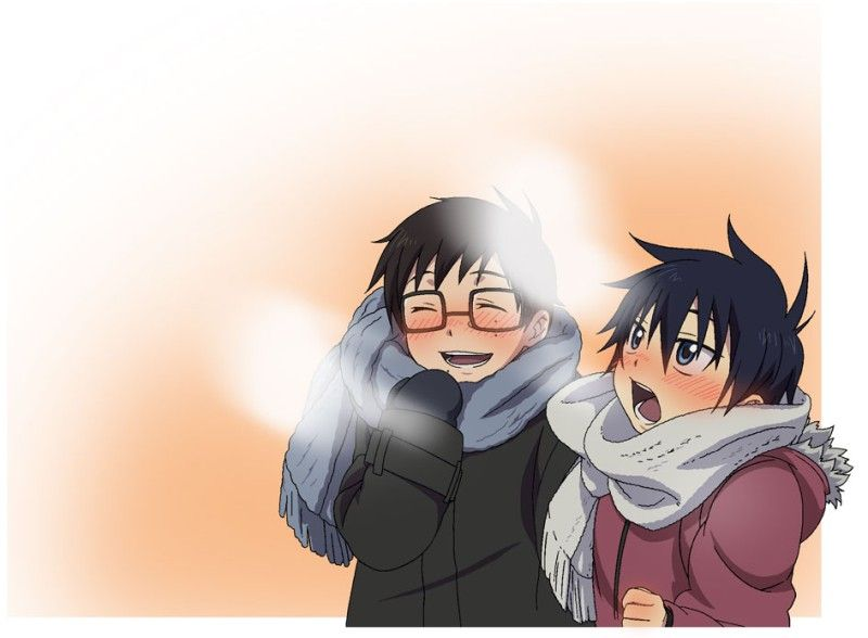 Little Rin and Yukio dressed up for the cold :) | Ao no Exorcist