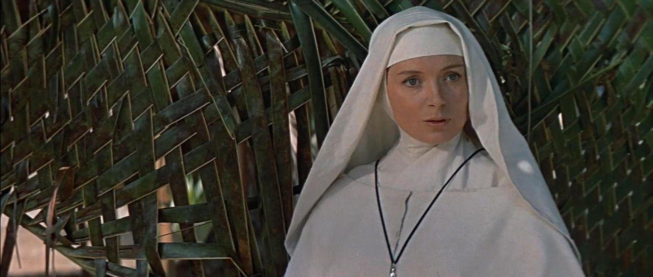 "Deborah Kerr in ""Heaven Knows, Mr. Allison"" (1957, John Huston) /  Cinematography by Oswald Morris   Deborah kerr, Allison, Girls on film"