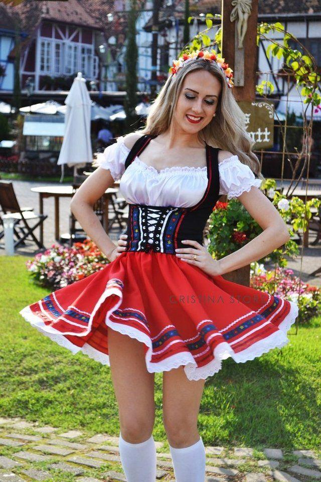 Traje Típico Alemão Vermelho Oxford Tradicional  c713914e785
