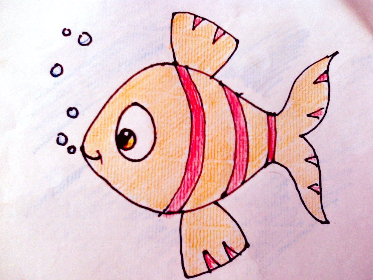 Drawing How To Draw Fish And Colour For Kids Art Youtube Fish Sketch Fish Drawings Fish Drawing For Kids