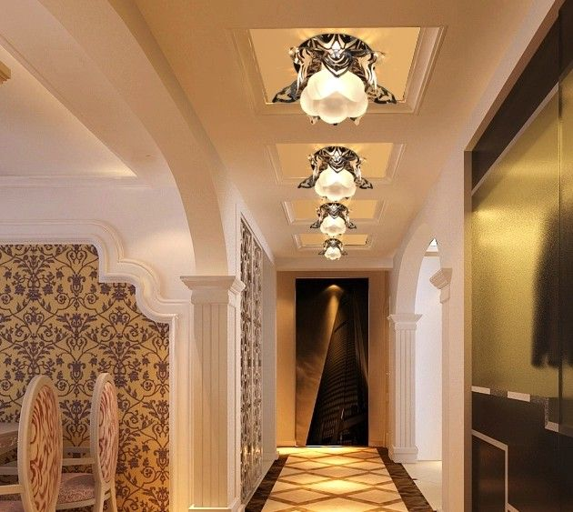 new 2014 ceiling lights with crystal abajur 3W LED bedroom corridor parlour Crystal lamp AC85-265v luminaria free shipping